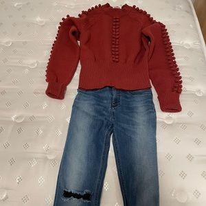Chole Sweater Ginger Red